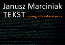 Tekst : monografia subiektywna