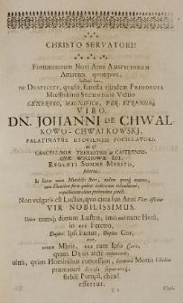 Sympathiae et memoriae Chwalkovio-Bergianae sacrum