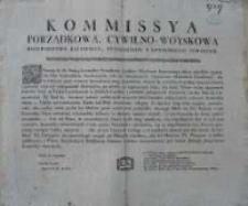 [Uniwersał Komisji Porządkowej Cywilno-Wojskowej woj. Kaliskiego, powiatów pyzdrskiego i konińskiego]