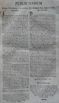Publicandum. Für Sämtliche Resp. Landes-Stände und Einwohner. Posen, den 15 II 1793