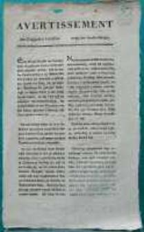 Avertissement den Salzhandel betreffend. Posen den 25. April 1795