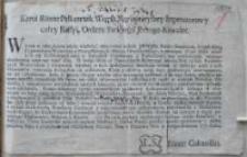 [Uniwersał wyznaczający 1.05.1770 jako datę odwiezienia do Poznania trzech podatków]