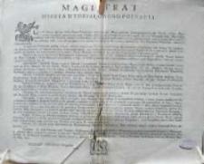 [Obwieszczenie magistratu miasta Poznania. 29.03.1792]