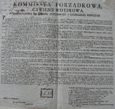 [Obwieszczenie Komisji Porządkowej Cywilno-Wojskowej woj. Kaliskiego, pow. pyzdrskiego i konińskiego]