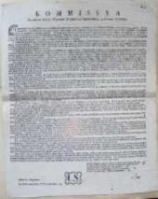 [Obwieszczenie Komisji Porządkowej Cywilno-Wojskowej woj. gnieznieńskiego i pow. Kcyńskiego]