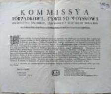 [Uniwersał Komisji Porządkowej Cywilno-Wojskowej woj. Kaliskiego, pow. pyzdrskiego i konińskiego]