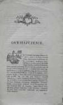 Obwieszczenie Augusta Sułkowskiego 1783.09.26