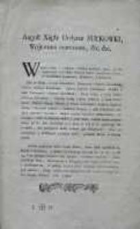 [Obwieszczenie Augusta Sułkowskiego 1784.05.05]