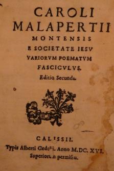 Variorum poematum fasciculus