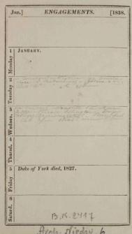 Raptularzyk Leonarda Niedźwieckiego zawierający zapiski dzienne z roku 1838