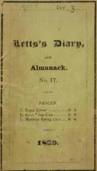Raptularzyk Leonarda Niedźwieckiego zawierający zapiski dzienne z roku 1839