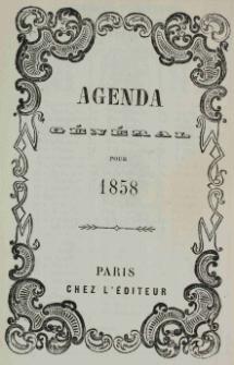 Raptularzyk Leonarda Niedźwieckiego zawierający zapiski dzienne z roku 1858