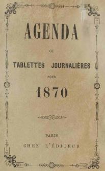 Raptularzyk Leonarda Niedźwieckiego zawierający zapiski dzienne z roku 1870