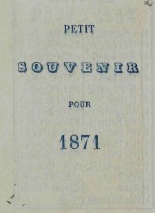 Raptularzyk Leonarda Niedźwieckiego zawierający zapiski dzienne z roku 1871